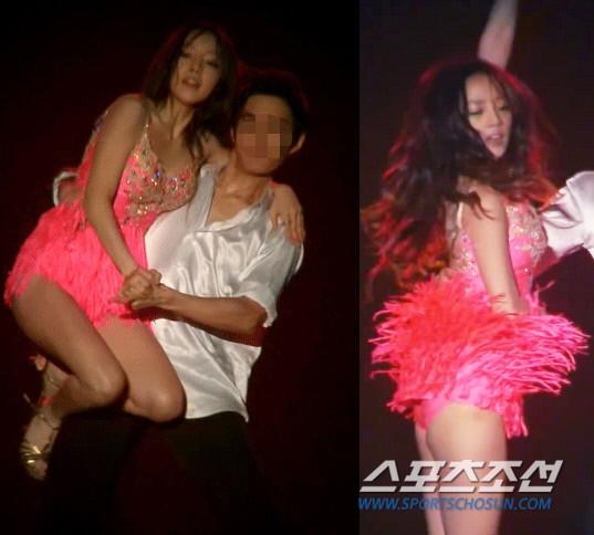 Goo Hara nhảy sexy với vũ công nam