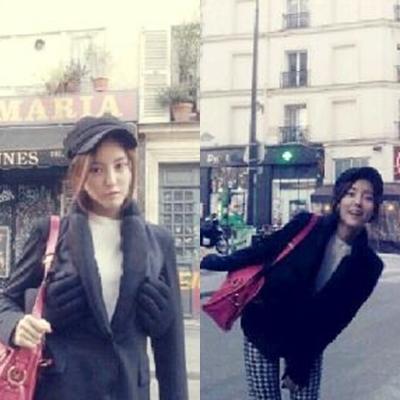 """Hyomin(T-ara)cho thấy áo khoác của cô """"bàn tay nghịch ngợm"""""""