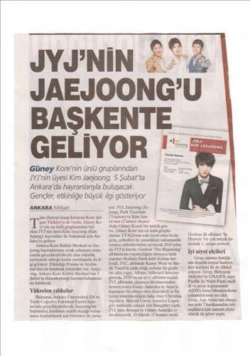 JYJ Jaejoong tổ chức Fan Meeting ở Thổ Nhĩ Kì