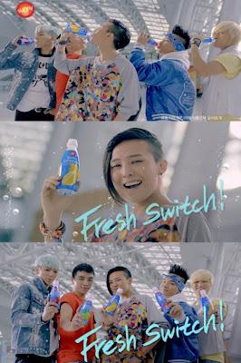 Big Bang nhảy shuffle tại sân bay quốc tế Incheon để quay quảng cáo
