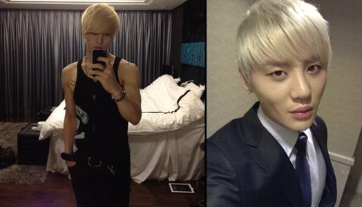 JYJ Kim Jaejoong thay đổi phong cách với mái tóc vàng hoe