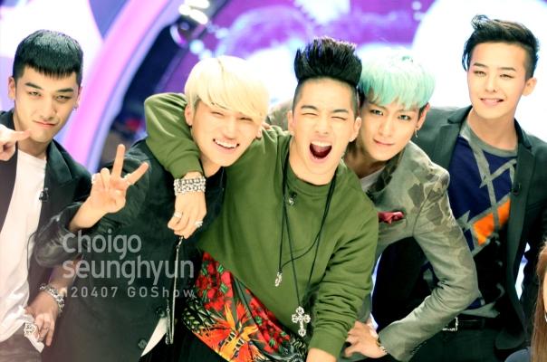 Big Bang trong buổi ghi hình cho Go Show